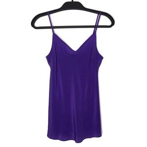 J. Crew Purple Silk Camisole Size Small